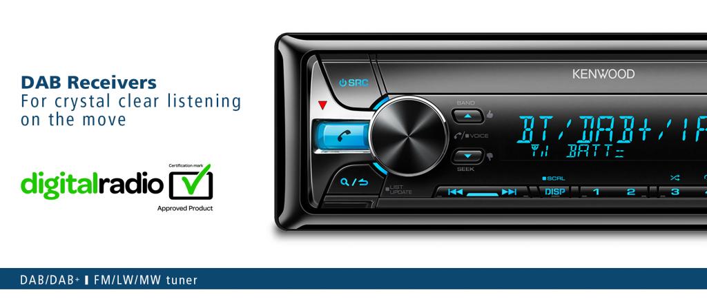 in car digital radio with kenwood kenwood car audio. Black Bedroom Furniture Sets. Home Design Ideas