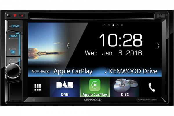 Stay connected with Apple CarPlay and the Kenwood DDX8016DABS
