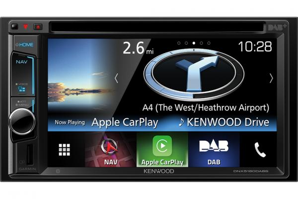 Enjoy Apple CarPlay with the Kenwood DNX5160DABS