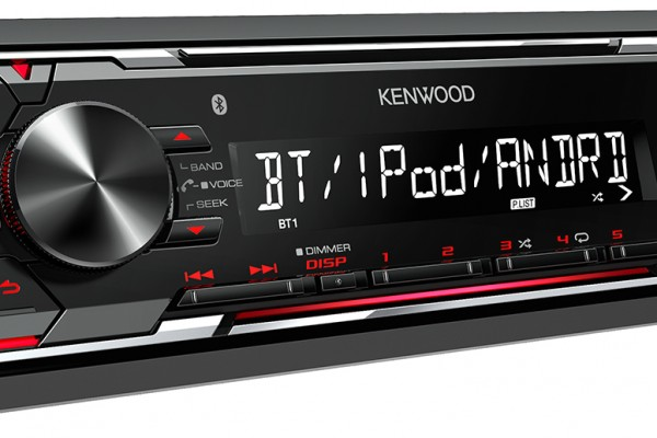 Bluetooth connectivity in a single DIN package. Introducing the Kenwood KMM-BT203
