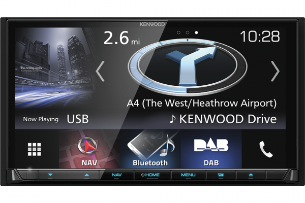 Enjoy advanced navigation with the Kenwood DNX8170DABS