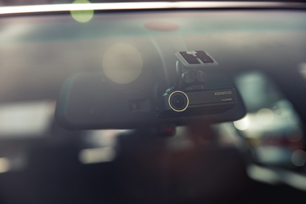 The Kenwood DRV-N520, a fully integrated dash cam solution